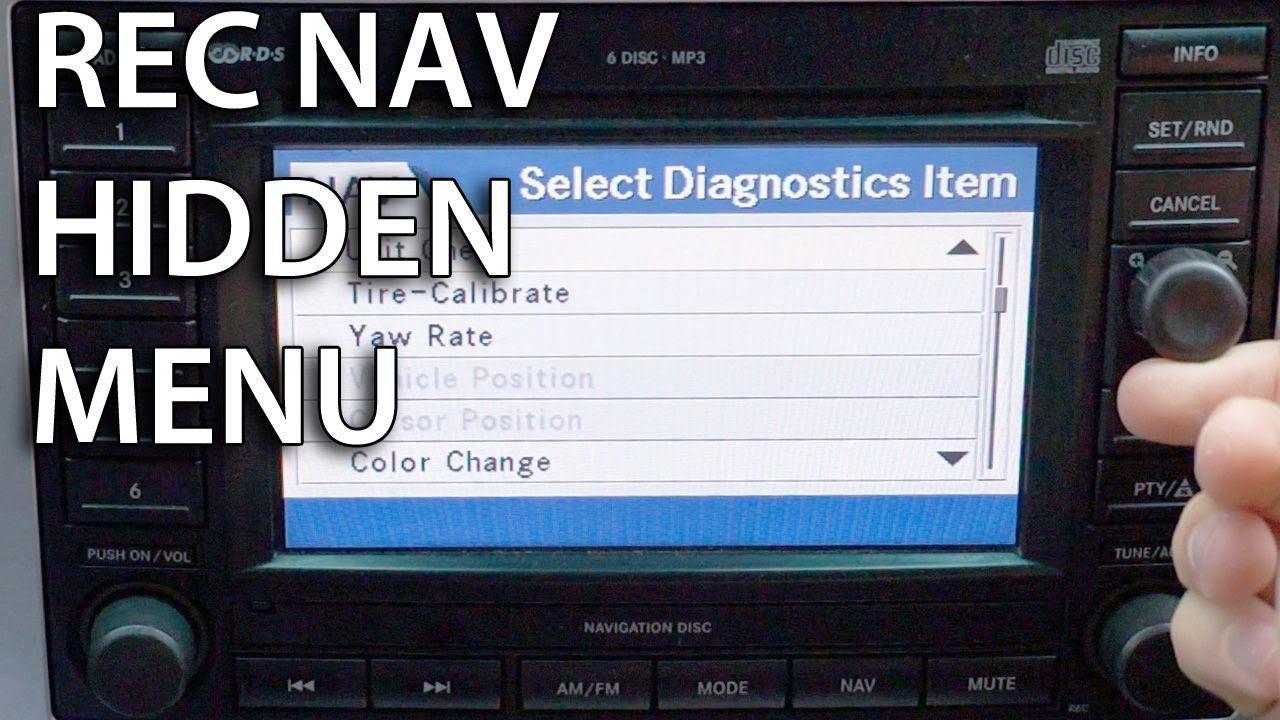 How To Enter Hidden Diagnostics Menu In Rec Navigation Mopar Dodge Chrysler Jeep Mopar Car Maintenance