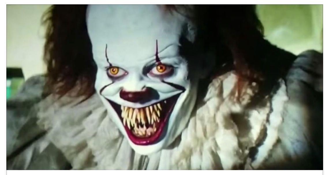 Pennywise ready to eat...
