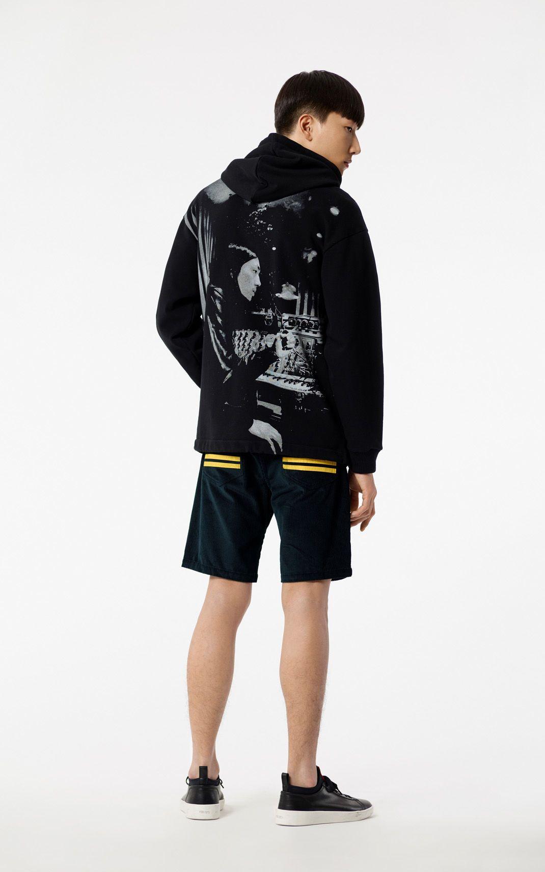 b8f80740b BLACK 'Ryuichi Sakamoto' hooded jacket for men KENZO | KENZO ...