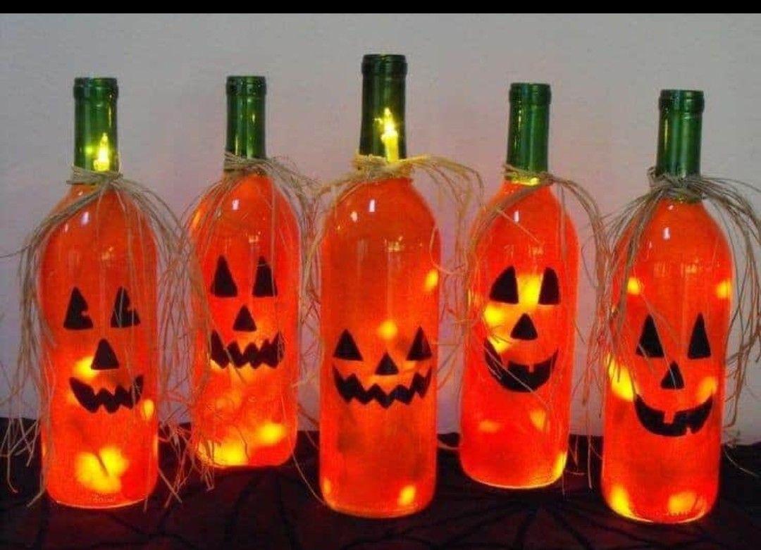 Pin By Traci Furman On Halloween In 2020 Halloween Wine Bottles Christmas Wine Bottles Bottle Crafts