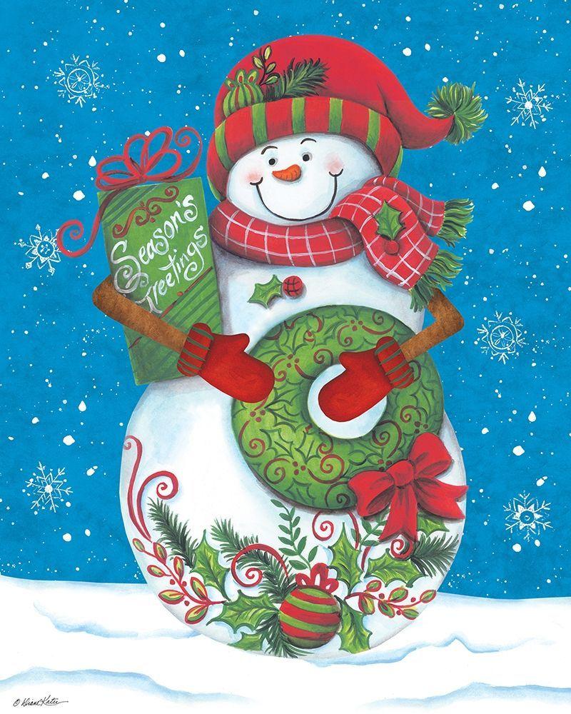 Snowman Let it Snow Holiday Antistress Christmas Santa Cross Stitch Pattern