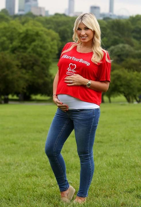 84b36bd56064 Billie Faiers encourages women to  BareYourBump for BHF