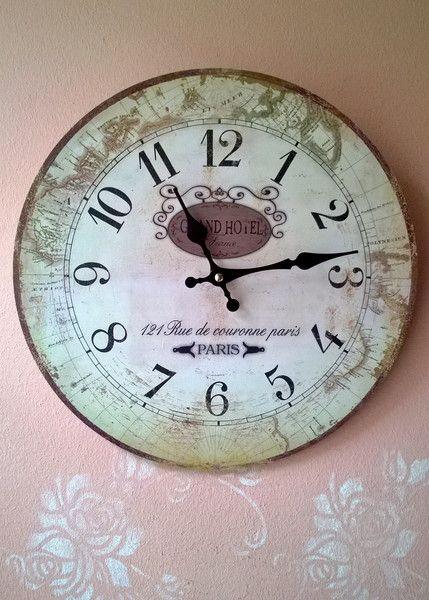 Uhren Kuchenuhr Wanduhr Shabby Chic Grand Hotel Ein