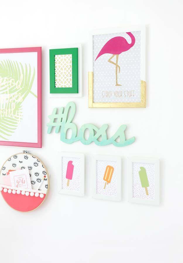 37 awesome diy wall art ideas for teen girls a rae diy home rh pinterest com