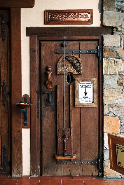wonderful wooden door in Spain
