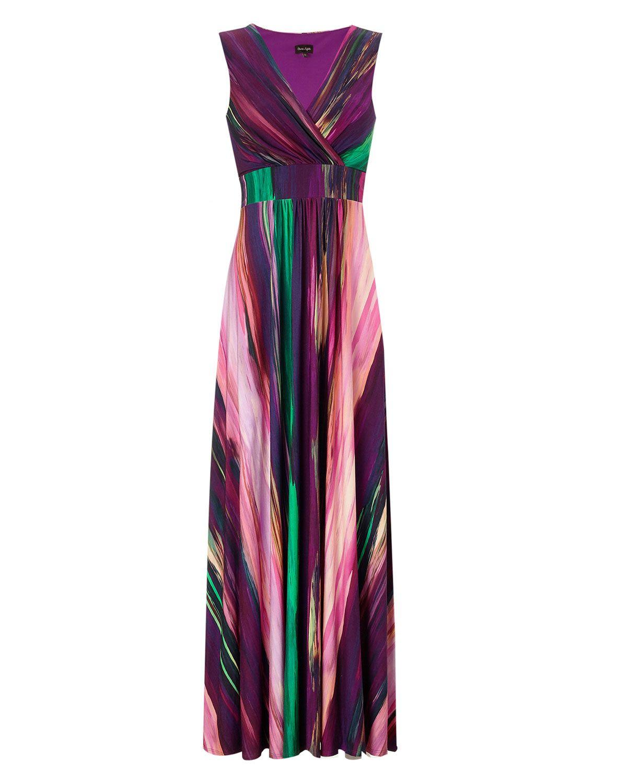 Kaliko jewel shoulder maxi dress