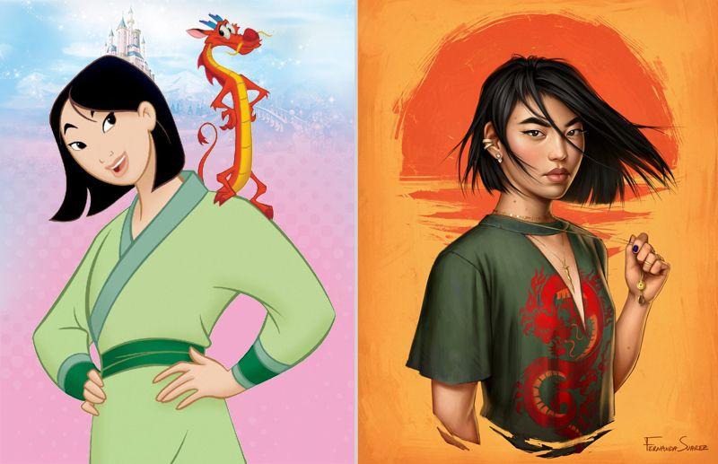 Modern Mulan In 2020 Disney Princess Modern Modern Disney Disney Princess