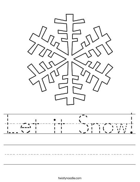 Let It Snow Worksheet Twisty Noodle Stopping By Woods On A Snowy