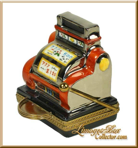 Red Jackpot Slot Machine Limoges Box by Beauchamp