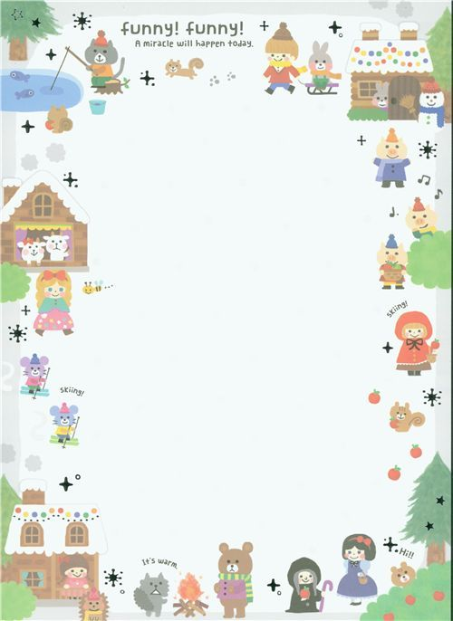 Big Christmas Notepad Fairy Tale From Japan Kawaii Stationery Memo Paper Kawaii Printables
