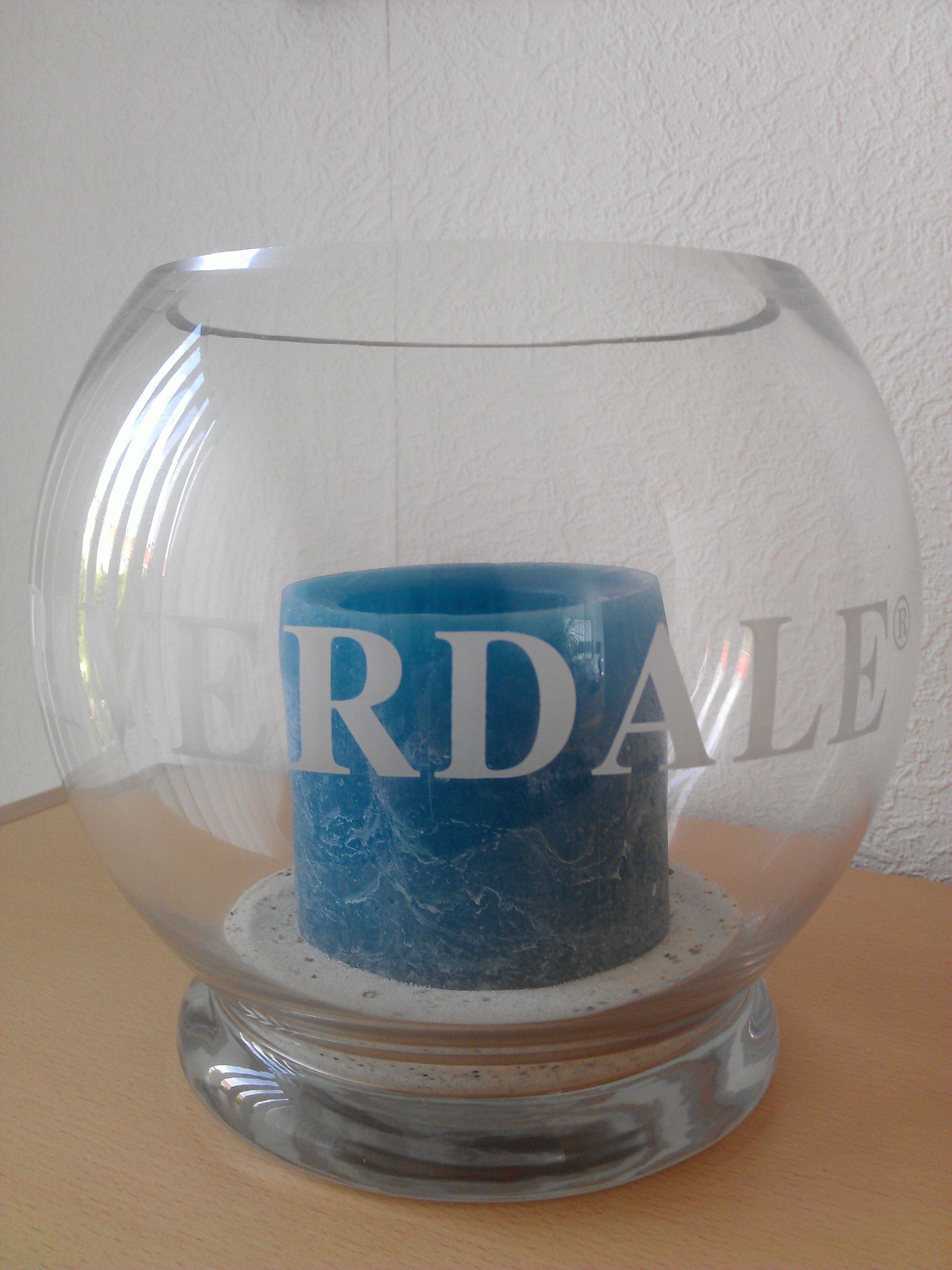 Candle turquoise