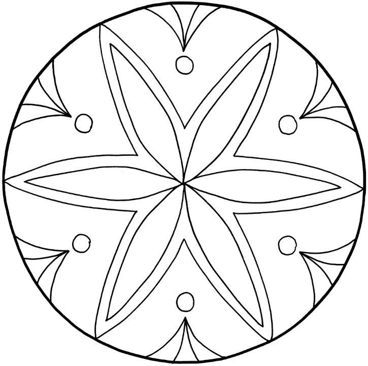 Mandalas zum Ausdrucken: Tolle Blumen-Mandala-Vorlage zum Ausmalen ...