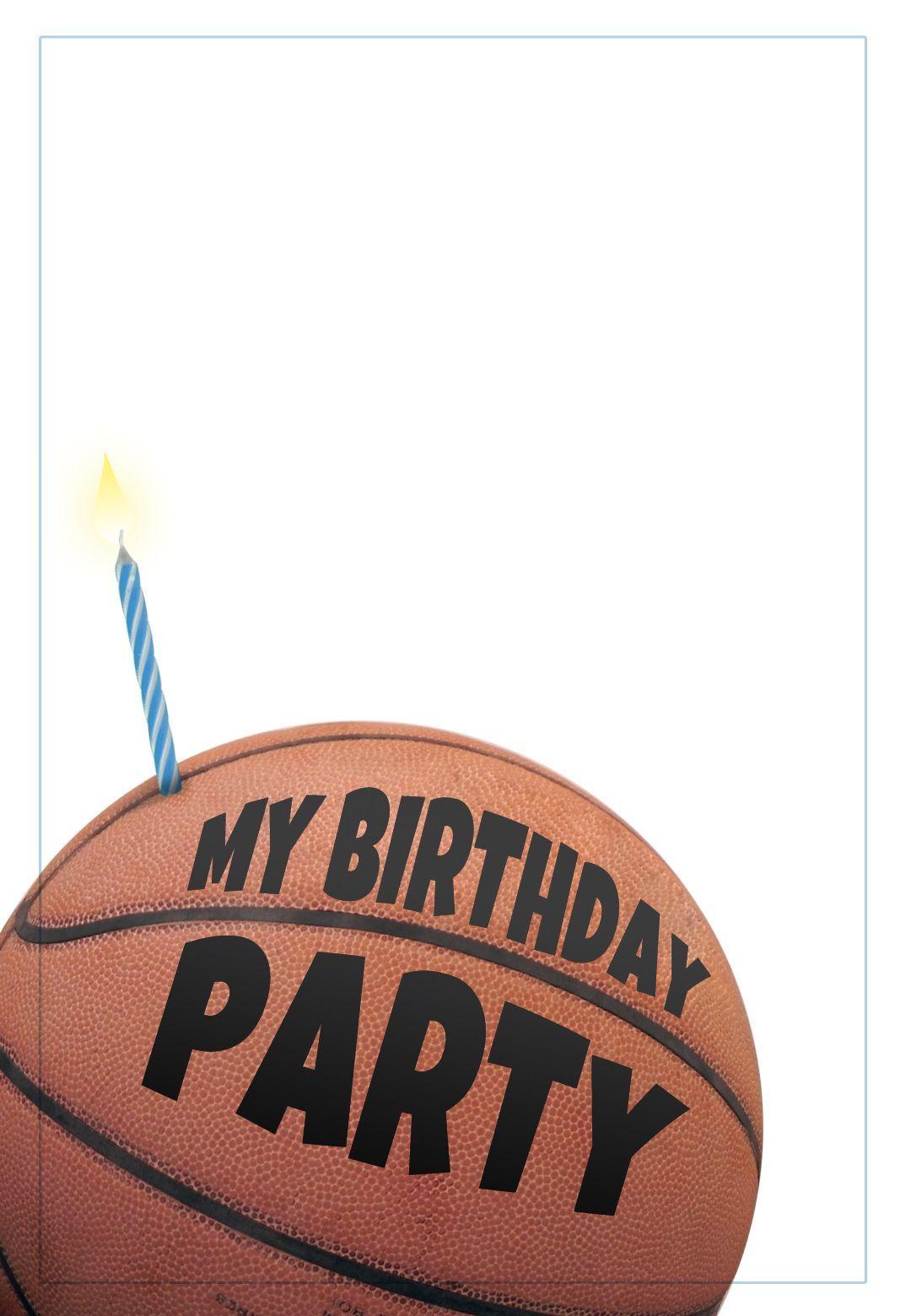 Free Printable Basketball Invitation