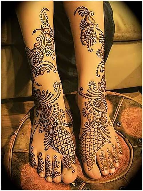 beautiful dulhan mehndi designs for feet