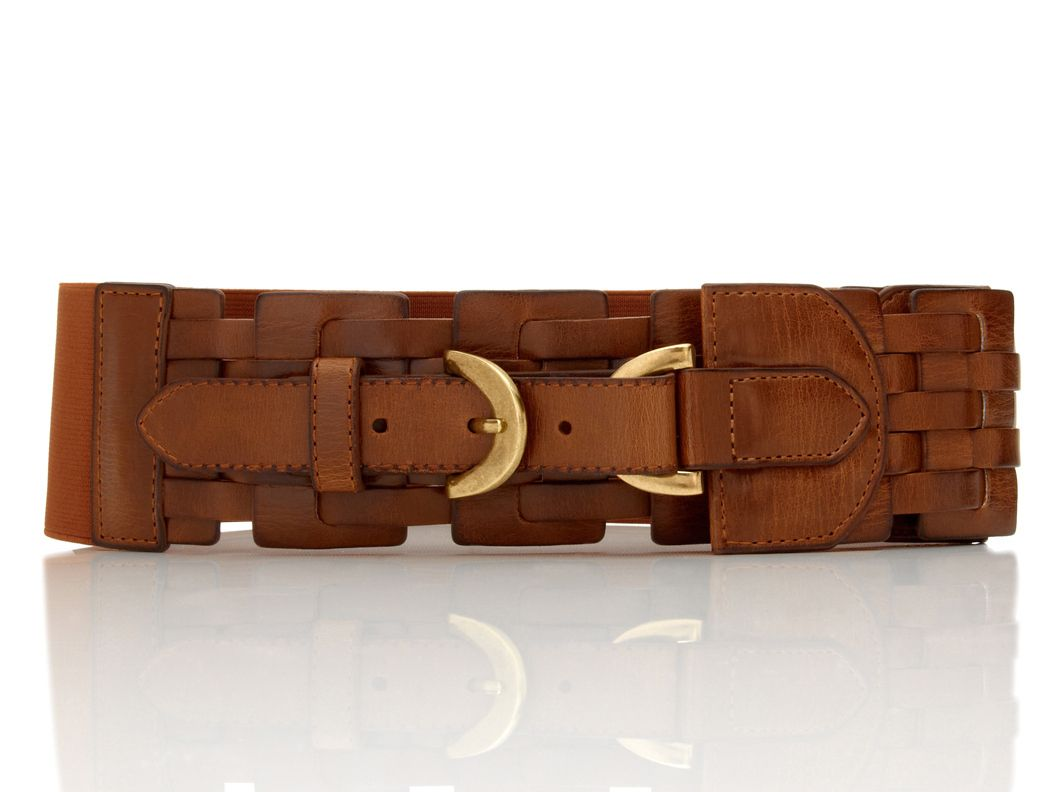 Lattice Woven Stretch Belt by Steve Madden :}