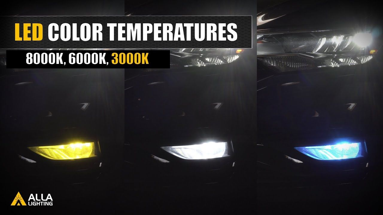 Eclairage Interieur Voiture Led What Color Is Best For Led Fog Lights 3k Yellow 6k White 8k