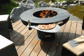 Sommerküche Mit Pizzaofen : Schweizer gartengrill mit pizzaofen von asgard hotel