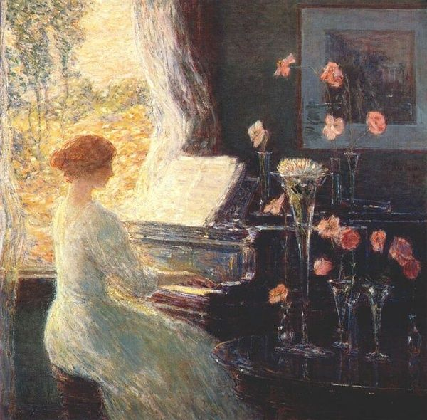The Sonata by Childe Hassam