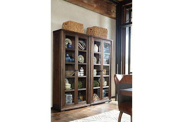 Medium Brown Zenfield Curio 700 Ea 2 Shown Dining Room Storage Ashley Furniture Dining Room Storage Furniture