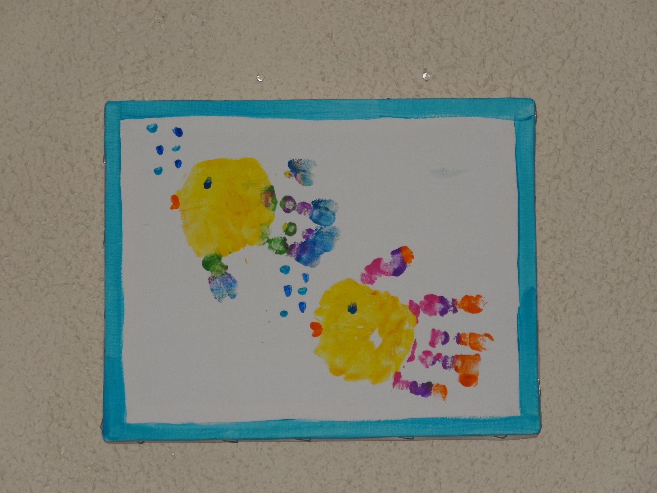 Arts and crafts prints - Hand Print Art
