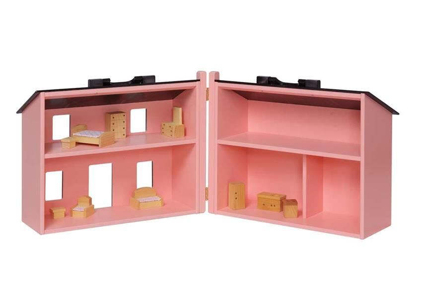 Amish Wooden Folding Dollhouse Heritage Doll Furniture