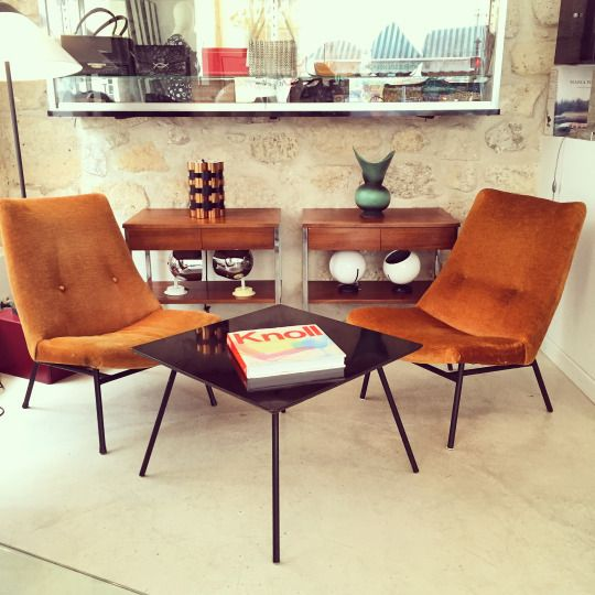 Hey Vintage Lovers Here S A Nice Set Available At The Shop Pierre Guariche Florence Knoll Knoll Steiner Interested Any Questions Pl Design Meuble Deco