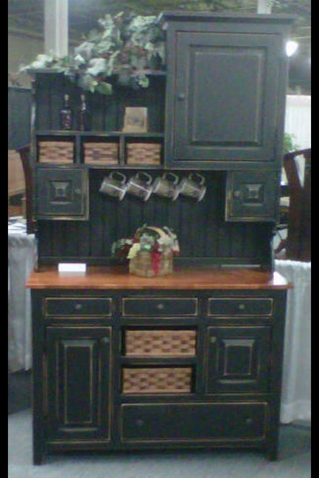 amish kitchen hutch pantry cabinet primitive country pine wood rh pinterest com