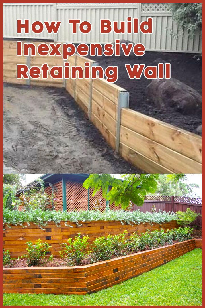 How To Build Cheap Retaining Wall Landscaping Retaining Walls Sloped Backyard Cheap Retaining Wall