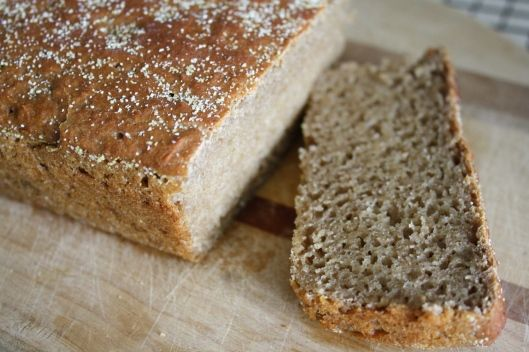 this bread literally takes minutes to make and it's not made in the bread machine. LOVE!