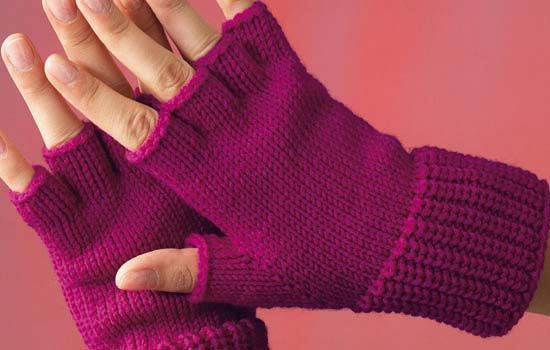 Cute Chic Text With Ease Gloves Mittens Fingerless Knitted Button /& Lace