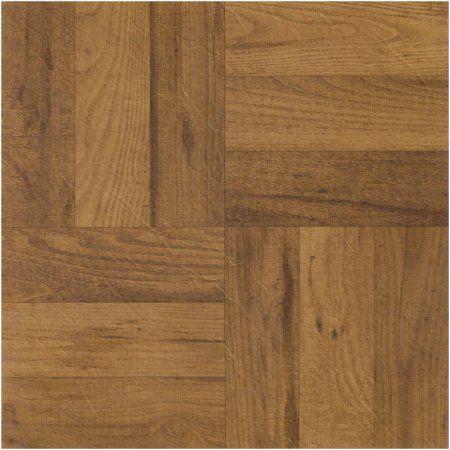 Achim Nexus Self Adhesive Vinyl Floor Tile 20 Tiles 20 Sq Ft 12 X 12 3 Finger Medium Oak Parquet Walmart Com Vinyl Flooring Tile Floor Wood Parquet