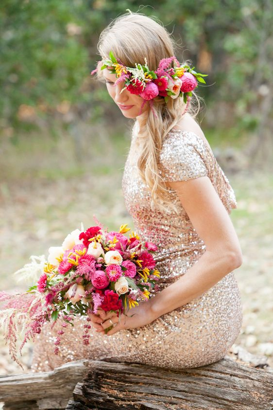 Sparkly Bridal Shoot with Boho Flower CrownVisit our wedding planner website: www.portugalwhiteweddings.com