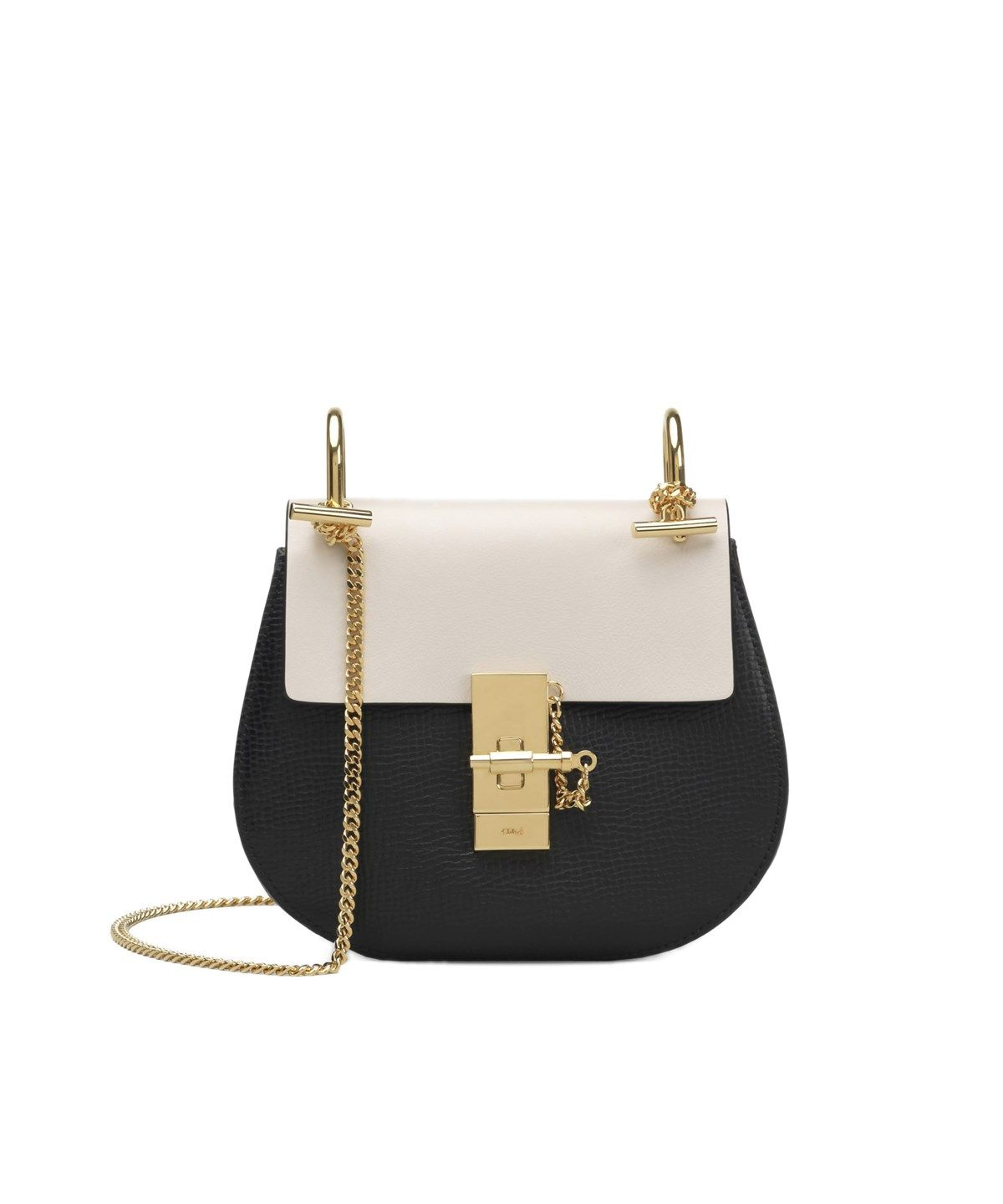 1817354f9bb CHLOÉ DREW MINI SHOULDER BAG BLACK WHITE .  chloé  bags  shoulder bags   lining  suede