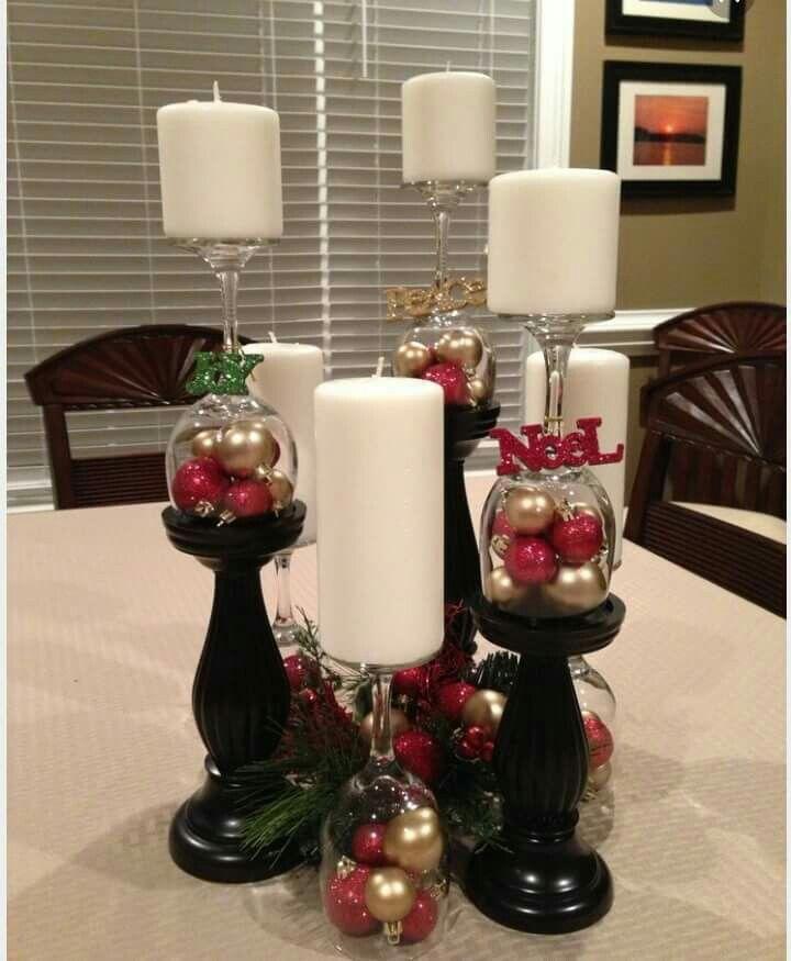 Wine Glass Christmas Decorating Ideas Part - 19: Wine Glass Christmas Decoration, Just Love This!