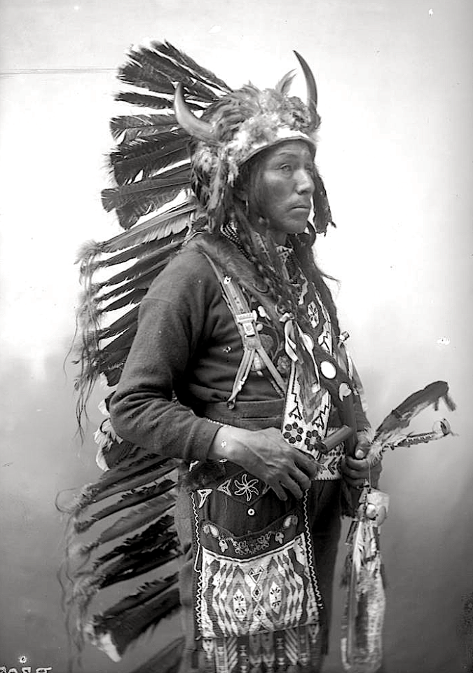 Joseph Help. Oglala Lakota. 1899. Photo by Heyn Photo. Source - Denver Public Library