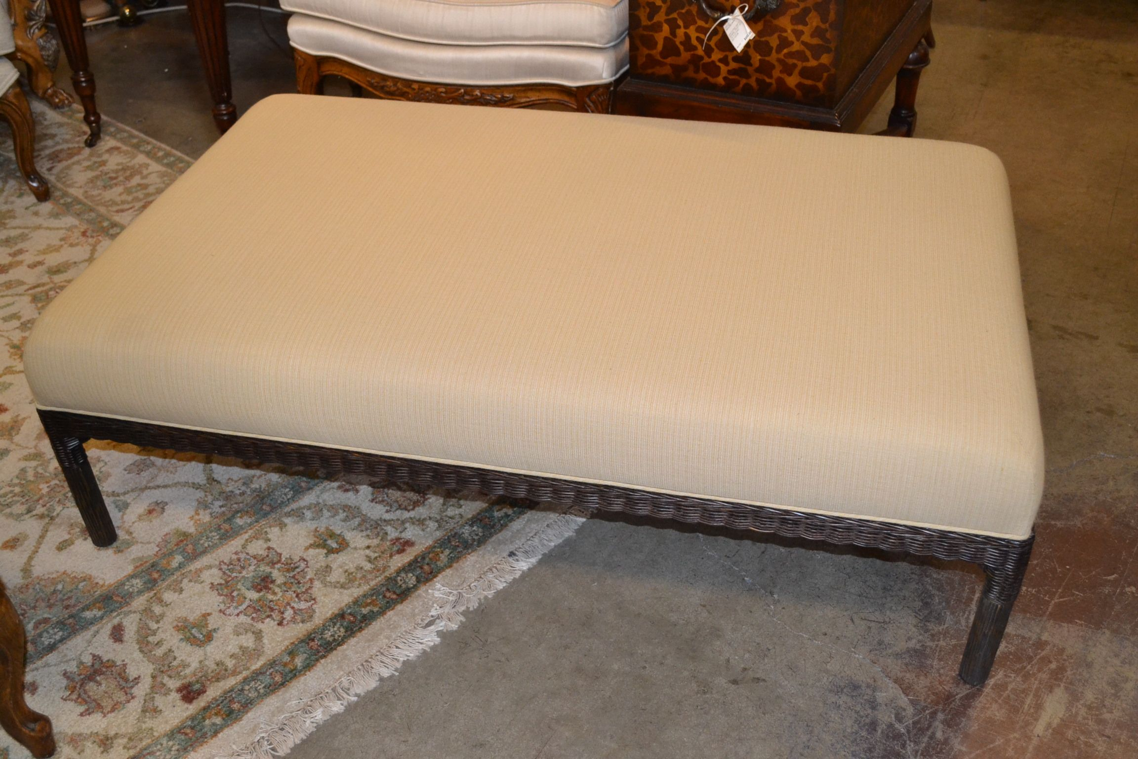 Lee Ind Leather Seating Size Ottoman