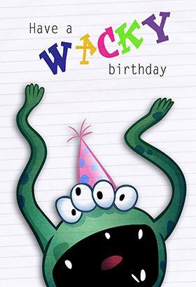 Wacky birthday printable card customize add text and photos wacky birthday printable card customize add text and photos print for bookmarktalkfo Images