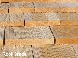 Roof Grade Shakes Are Machine Sawn From Top Quality