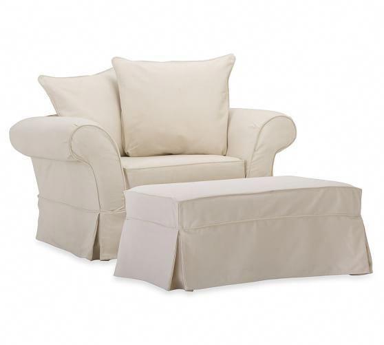 charleston slipcovered chair and a half pottery barn rh pinterest com