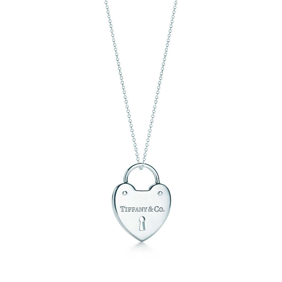 Love This Tiffany Heart Lock Pendant Heart Lock Pendant In Sterling Silver Engraved With The Tiffany Logo Diamond Pendant Jewelry Shop Necklaces Heart Lock