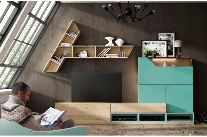 Salon Moderno En Colores Pino Danes Y Lago Merkamueble
