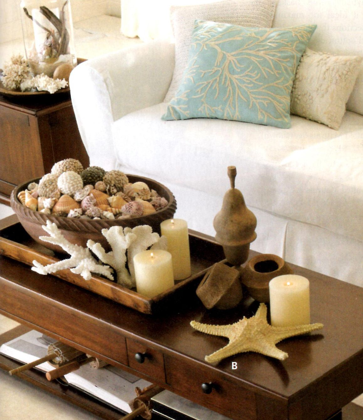 Decorate With Style 16 Chic Coffee Table Decor Ideas: Beach Decor And Coastal Style: Coastal