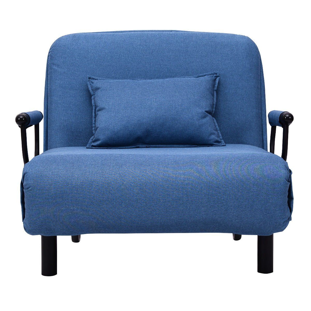 29.5W Blue Convertible Sofa Bed Lounge Folding Arm Chair