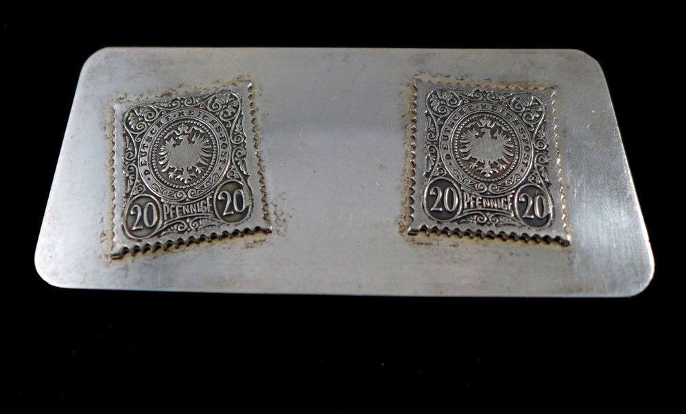 Details about Antique Sterling Silver Stamp Holder Box