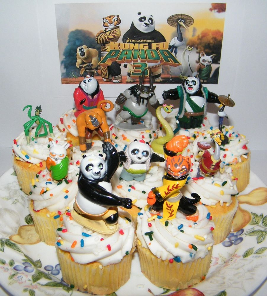 Kung Fu Panda 3 Cake Topper Party Decorations Set of 13 ...
