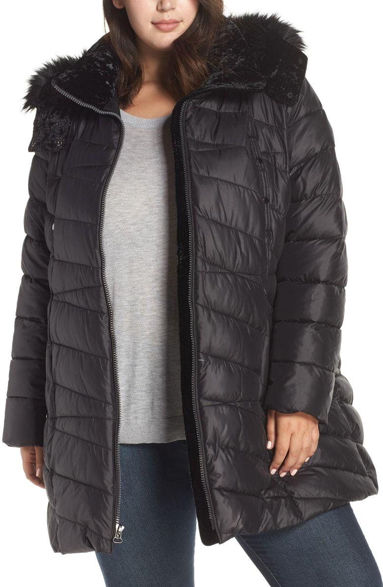 Marc New York Faux Fur Trim Puffer Jacket Plus Size Nordstrom Plus Size Puffer Coat Puffer Puffer Jackets [ 1196 x 780 Pixel ]