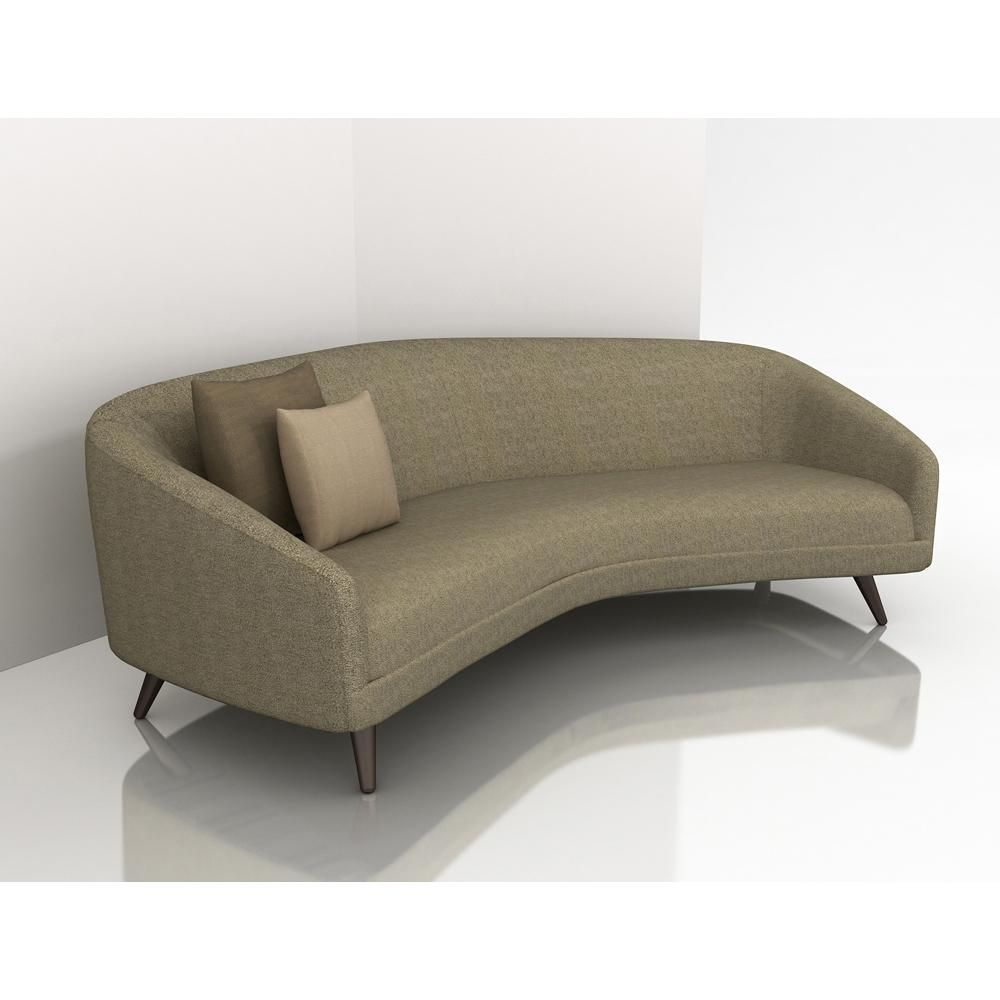Simple sofa with classic design and exposed