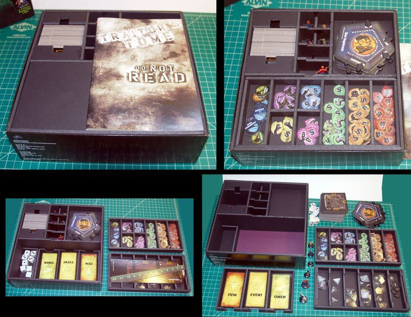 Custom foam core insert for Betrayal at House on the Hill