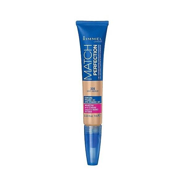 Rimmel Match Perfect Concealer & Highlighter  Light/Medium . oz ($4.99) ❤ liked on Polyvore featuring beauty products, makeup, face makeup, concealer, rimmel concealer and rimmel