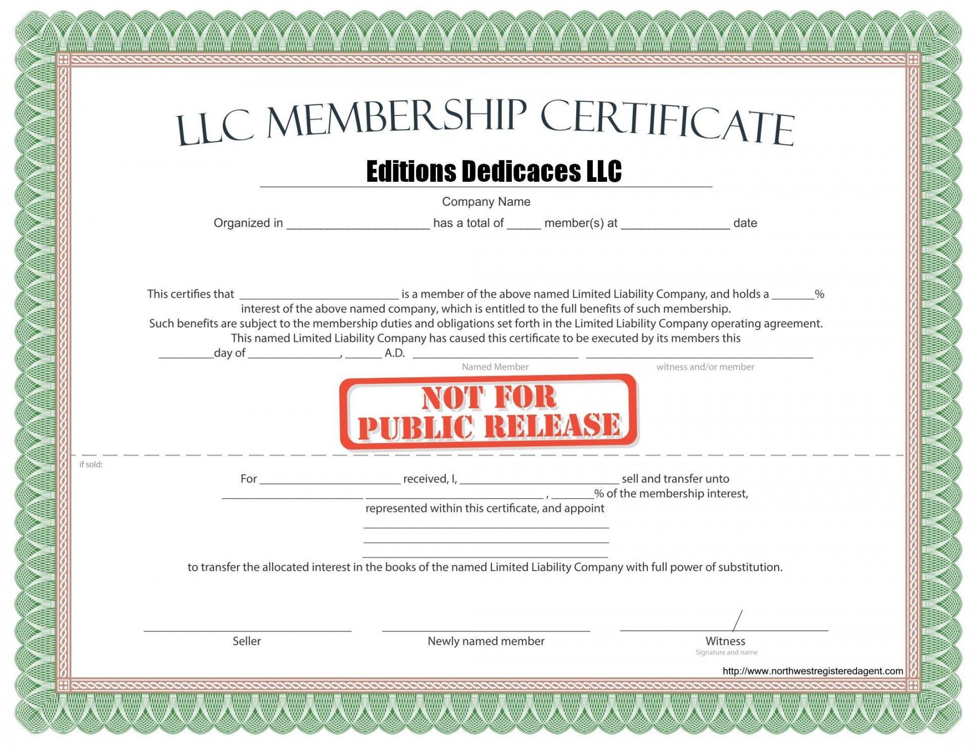 Llc Membership Certificate Template Word Colona Rsd7 With Llc Membership Certificate Tem In 2021 Certificate Templates Certificates Online Birth Certificate Template